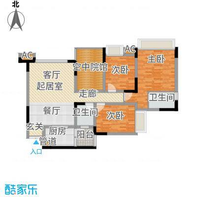 海尔海语江山101.54㎡一期11号楼面积10154m户型