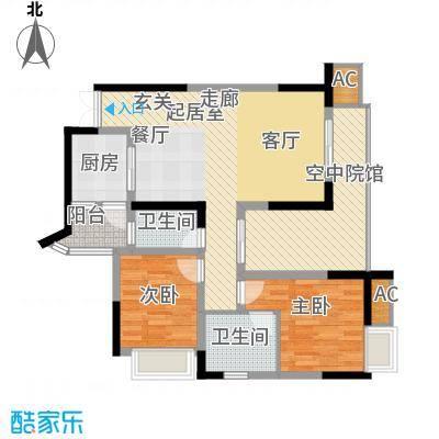 海尔海语江山79.07㎡C-4面积7907m户型
