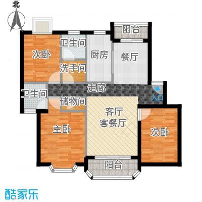 大庆村石油小区83.00㎡面积8300m户型