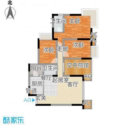 海尔海语江山99.68㎡E-2面积9968m户型