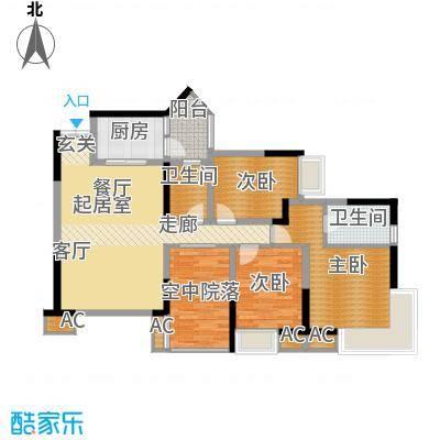 海尔海语江山100.21㎡E-3面积10021m户型