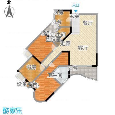 雅豪丽景112.32㎡2面积11232m户型
