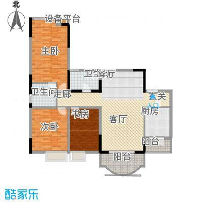 雅豪丽景113.68㎡2面积11368m户型