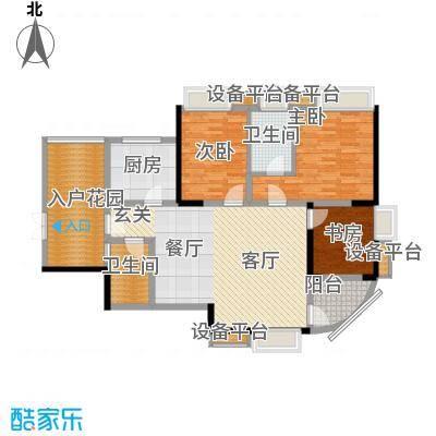 雅豪丽景98.86㎡2面积9886m户型