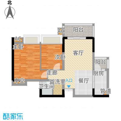 华宇北城中央15号楼2单元户型