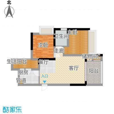 林正橙堡61.16㎡1号楼5号房面积6116m户型