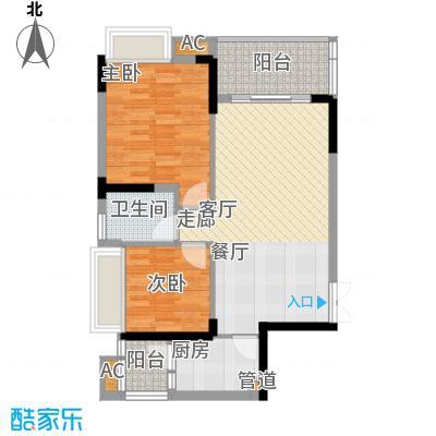 华宇北城中央64.50㎡17号楼2单元面积6450m户型