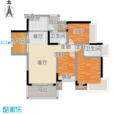 华宇北城中央88.86㎡16号楼1号房面积8886m户型