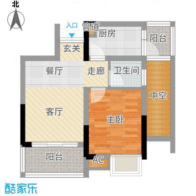 华宇北城中央38.94㎡22号楼5号房面积3894m户型