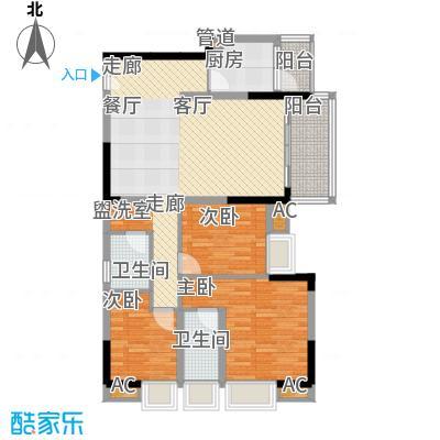 华宇北城中央89.42㎡15号楼2单元面积8942m户型