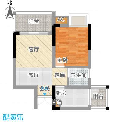 华宇北城中央39.13㎡16号楼4号房面积3913m户型