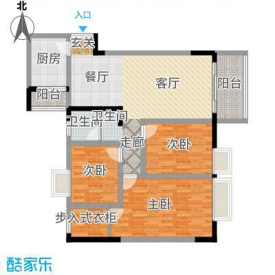 国窖明城98.06㎡A、B栋2面积9806m户型