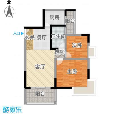 国窖明城72.45㎡A、B栋1面积7245m户型