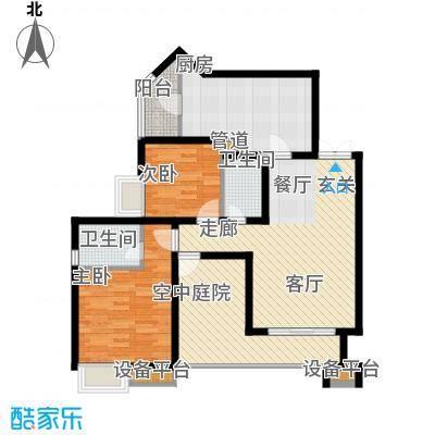名敦道南滨国际公寓74.89㎡B32面积7489m户型