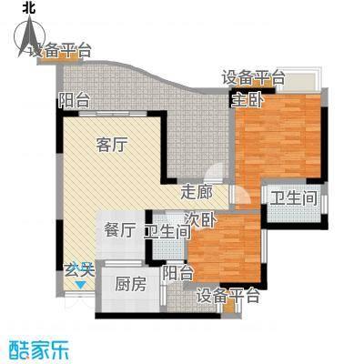 名敦道南滨国际公寓74.57㎡B12面积7457m户型