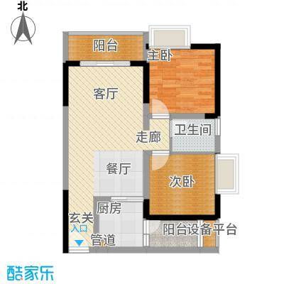 名敦道南滨国际公寓62.05㎡A1A面积6205m户型
