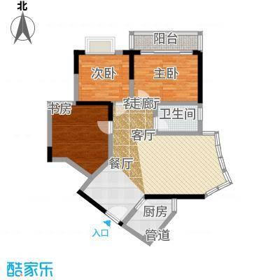 百康年世纪门77.15㎡A栋05号房面积7715m户型