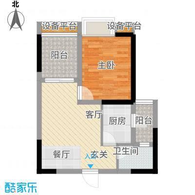 名敦道南滨国际公寓39.90㎡A17面积3990m户型