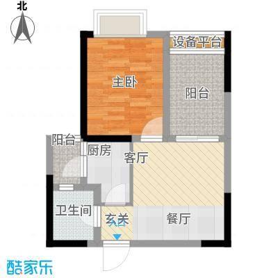 名敦道南滨国际公寓42.75㎡A61面积4275m户型