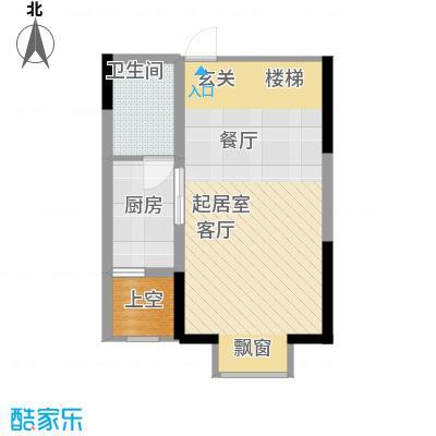 香草天空31.59㎡E型(下层)1面积3159m户型