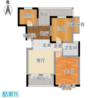 大华锦绣华城90.00㎡三期花园洋房J3户型