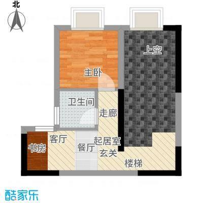 聚维书香世家43.74㎡跃层面积4374m户型