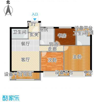 世茂君望墅102.00㎡一期3-4幢标准层B9户型