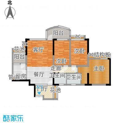 华宇江南枫庭104.58㎡2面积10458m户型