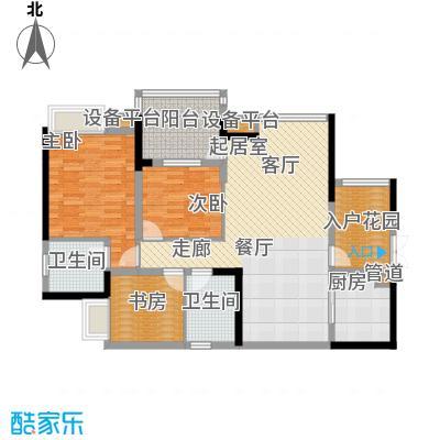 岭秀枫景96.67㎡H型+入户花园3面积9667m户型