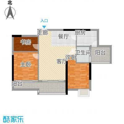 明瑜恒康佳苑95.00㎡面积9500m户型