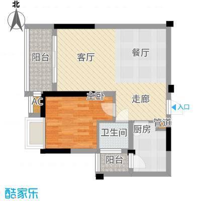 明瑜恒康佳苑51.00㎡面积5100m户型