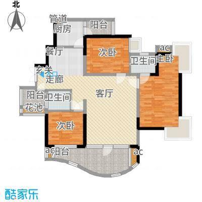 华宇江南枫庭106.19㎡1面积10619m户型