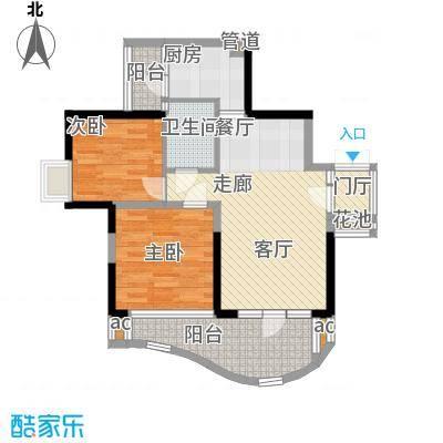 华宇江南枫庭68.10㎡4面积6810m户型