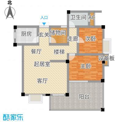 江南水乡121.02㎡下层面积12102m户型