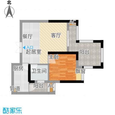 正升青青丽苑45.42㎡一期4号楼标面积4542m户型