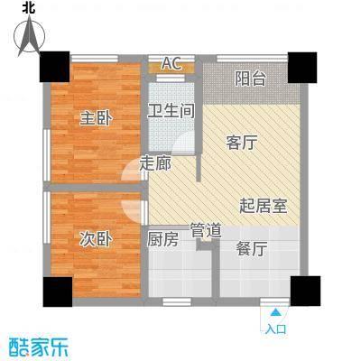 正升青青丽苑66.78㎡一期1号楼S面积6678m户型