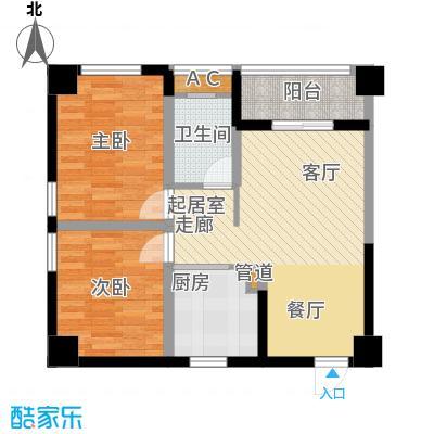 正升青青丽苑63.99㎡一期1号楼S面积6399m户型