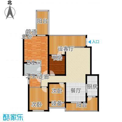 龙湖悠山庭院135.00㎡C3-23面积13500m户型