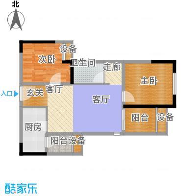 旭辉新里城59.06㎡五期6号楼标准面积5906m户型