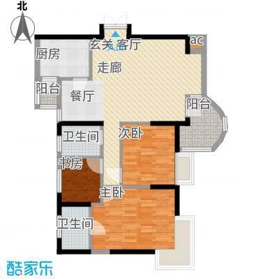 昌龙城市花园83.44㎡面积8344m户型