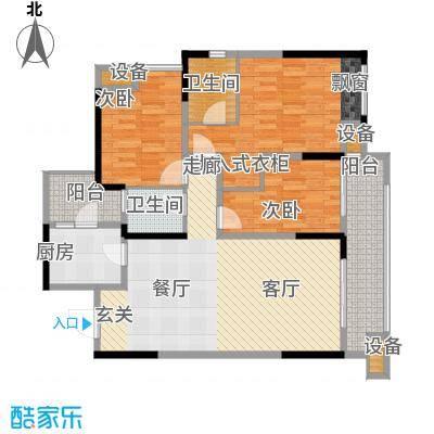 旭辉新里城96.34㎡二期53/58号楼面积9634m户型