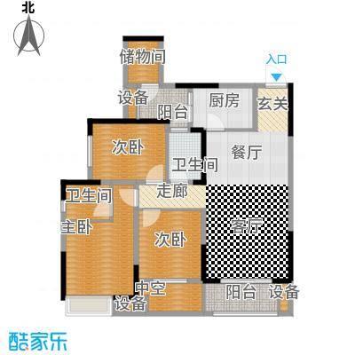 旭辉新里城88.38㎡二期53号楼标面积8838m户型
