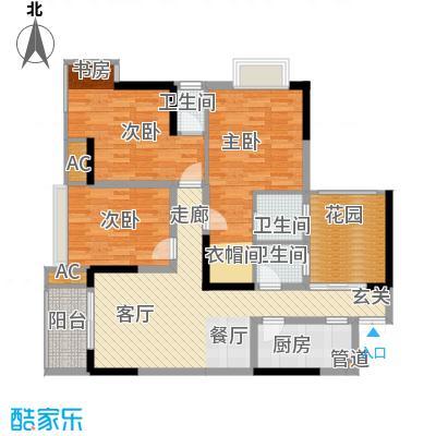 旭庆江湾国际花都94.05㎡C4-1号面积9405m户型