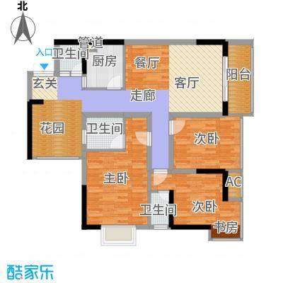 旭庆江湾国际花都93.98㎡C4-5号面积9398m户型