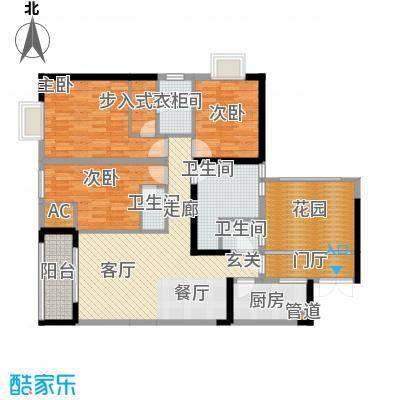 旭庆江湾国际花都111.84㎡C-114面积11184m户型