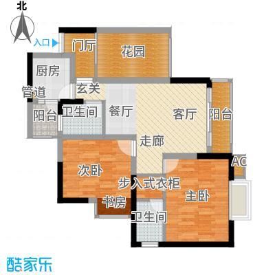 旭庆江湾国际花都69.35㎡C-3面积6935m户型