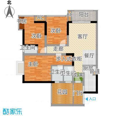 旭庆江湾国际花都93.32㎡C-8面积9332m户型