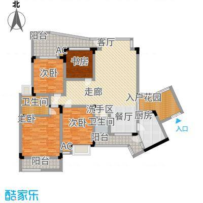 金香林125.85㎡57号楼标准层面积12585m户型