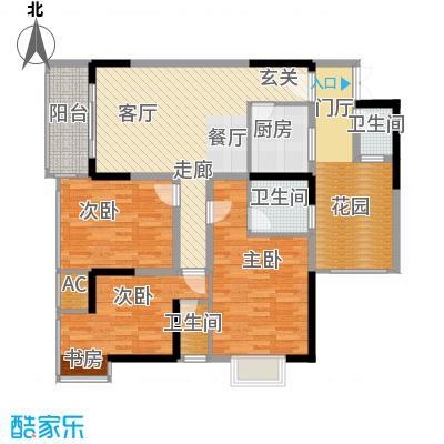 旭庆江湾国际花都95.65㎡C4-2号面积9565m户型