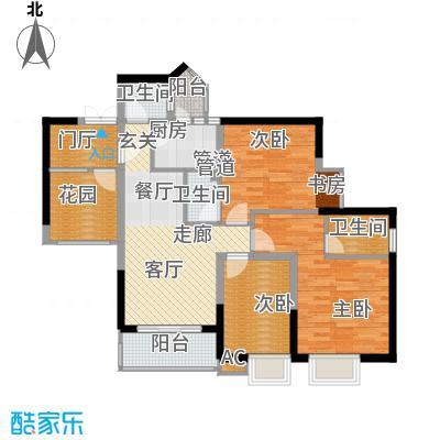 旭庆江湾国际花都84.01㎡C-6面积8401m户型